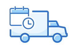 Truck icon with calendar