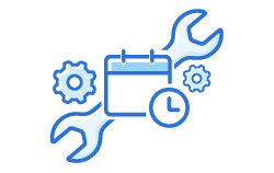 icon with wrench and schedule
