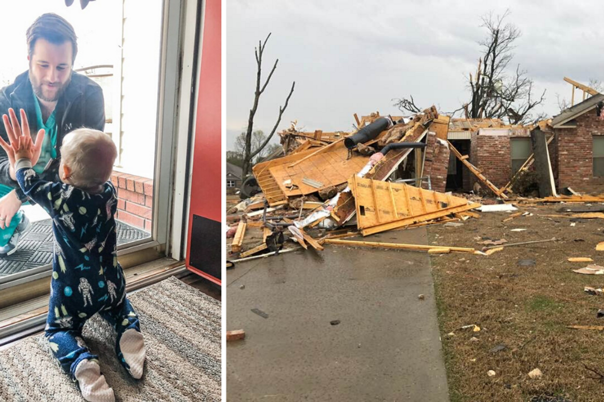 Countless strangers rallied to help a doctor's family recover after their home was destroyed in a tornado