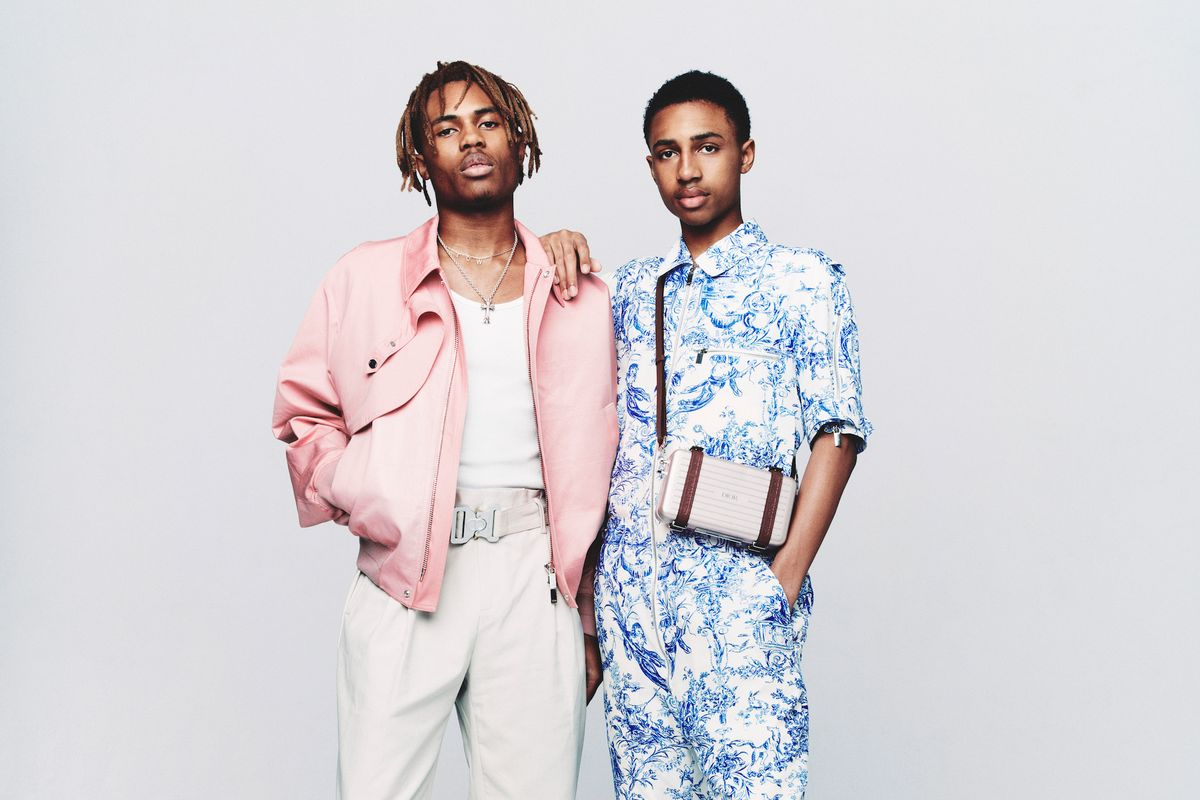 Kailand And Mandla Morris Wear Dior Homme For Paper Paper