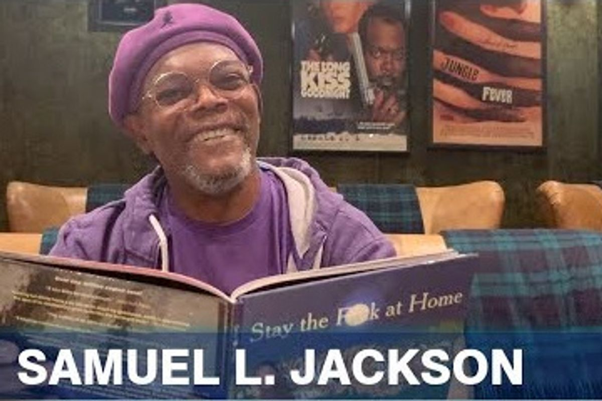 Samuel L. Jackson reads 'Stay the F*ck at Home' poem, and it's just perfection