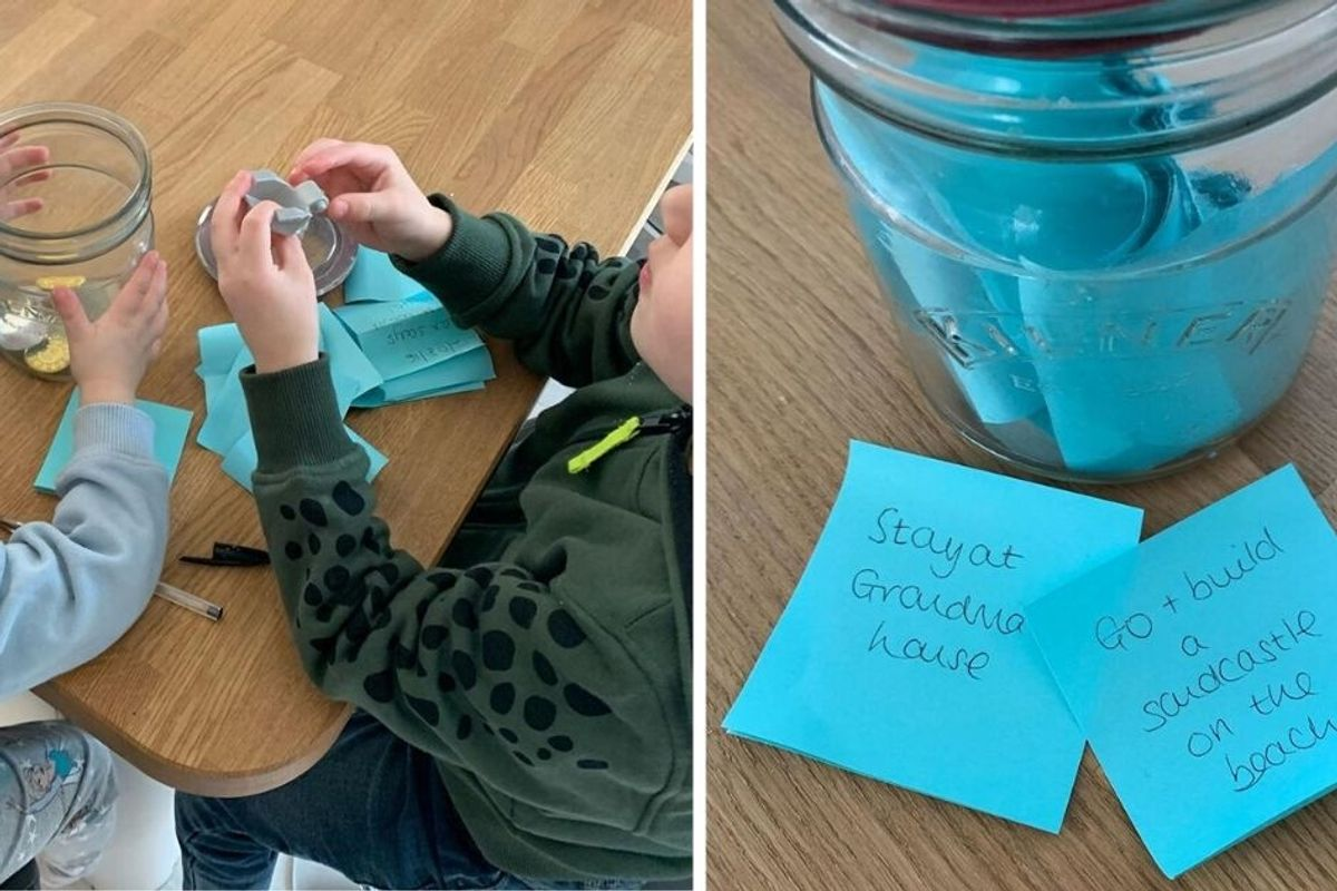 Mom creates a jar of 'magical things to look forward to' to help kids cope with lockdown