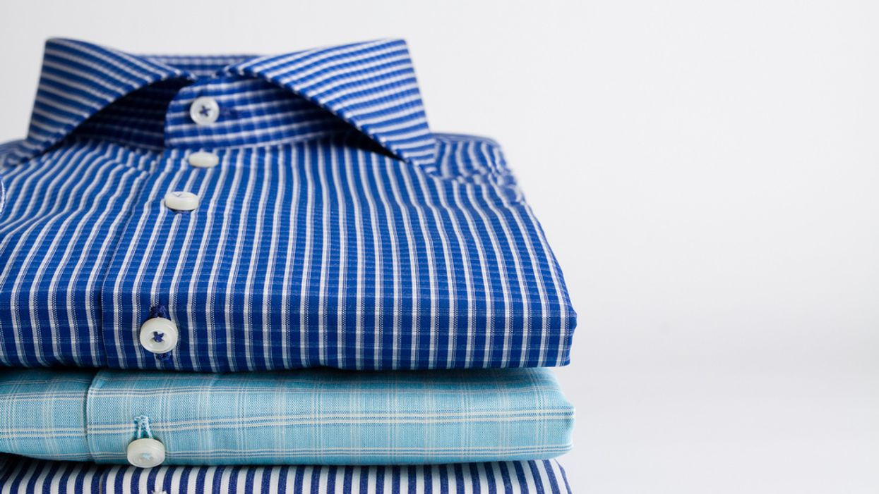 image of clean dress shirts on white background concept of dressing for success