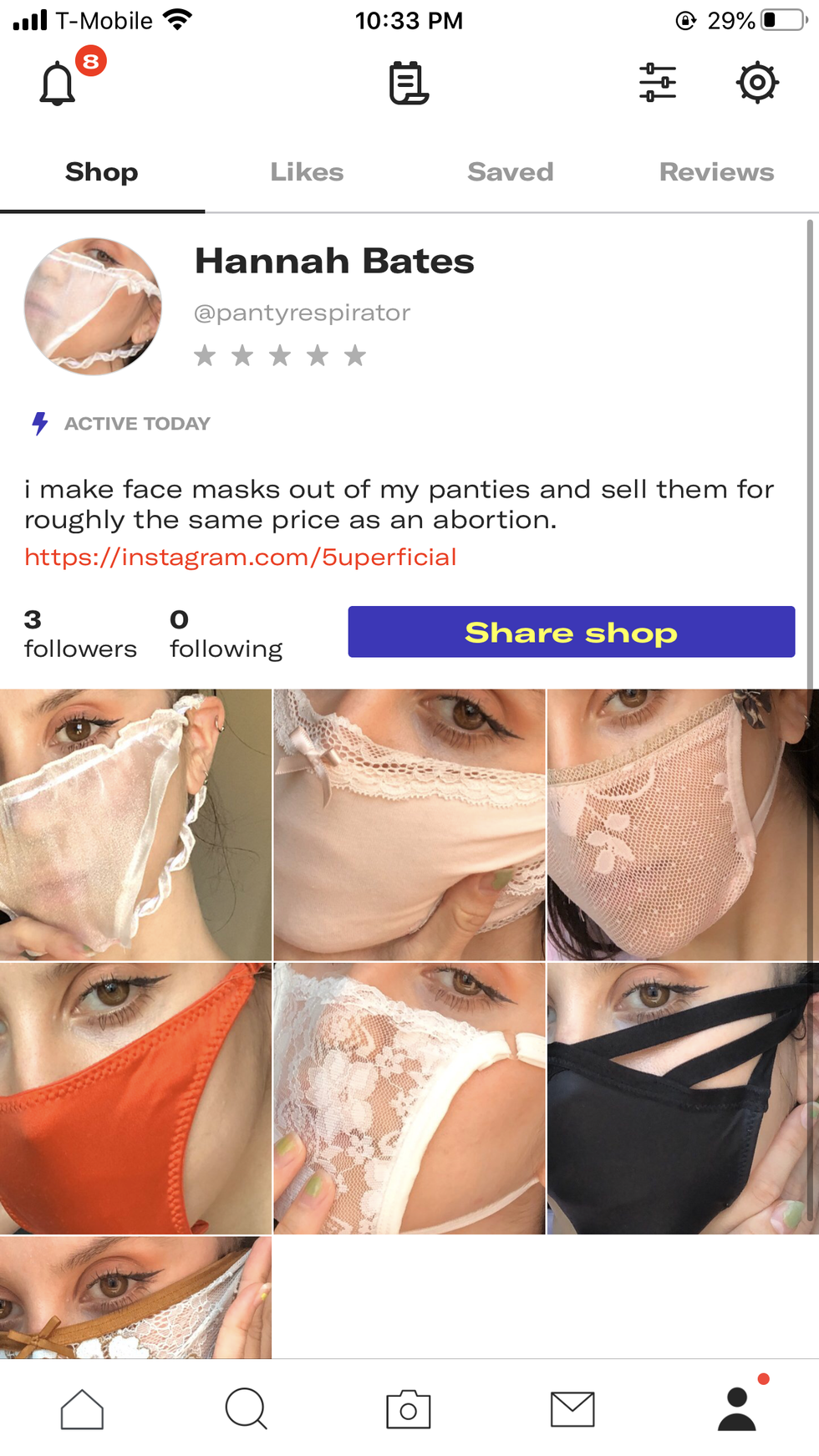 This Panty Face Mask Costs The Same As One Abortion Paper