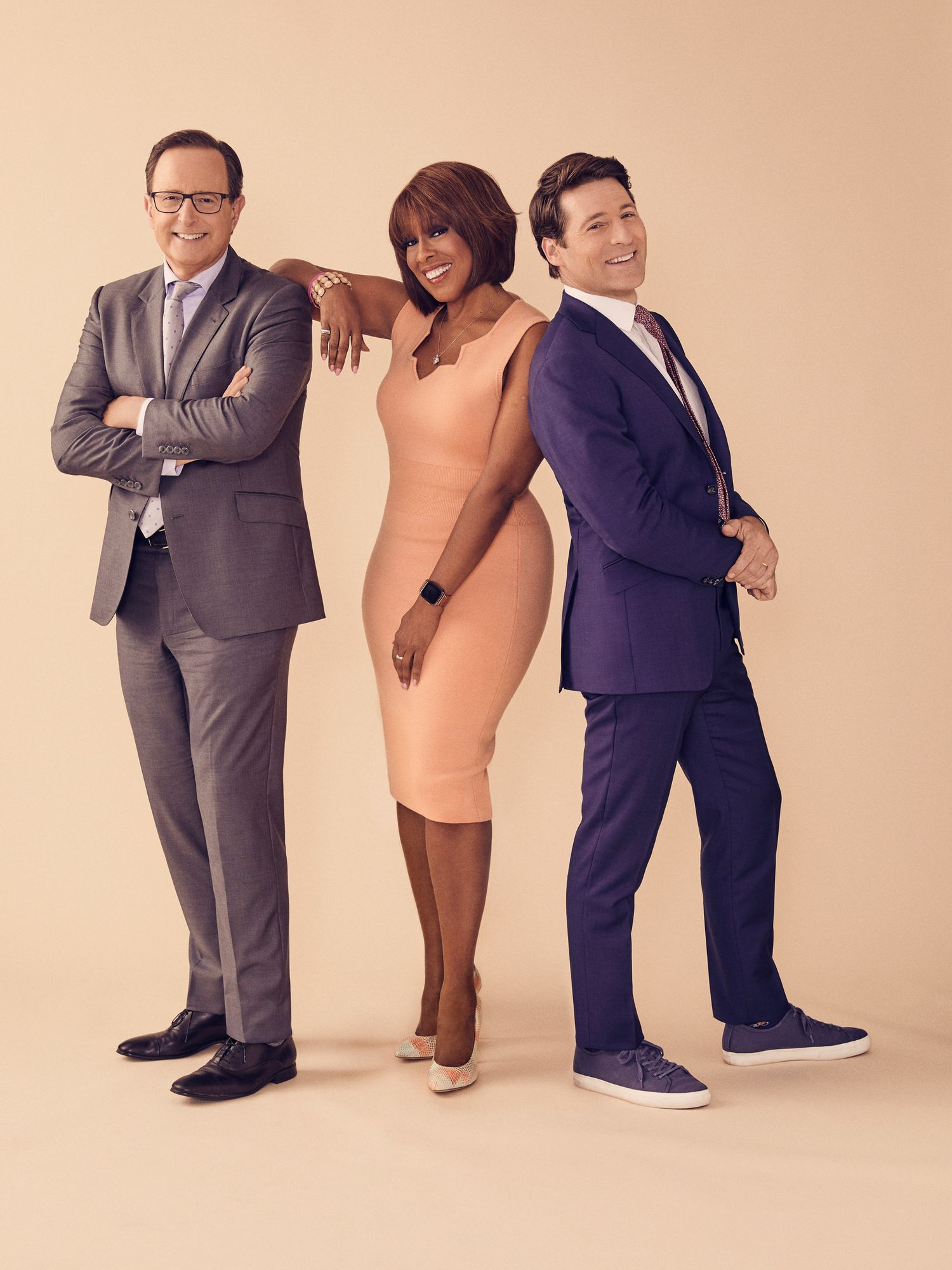 Gayle King, Anthony Mason, and Tony Dokoupil of CBS This Morning