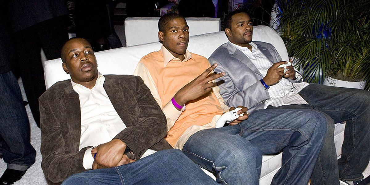 Without actual sports to play, professional athletes try to entertain fans by playing each other at video games