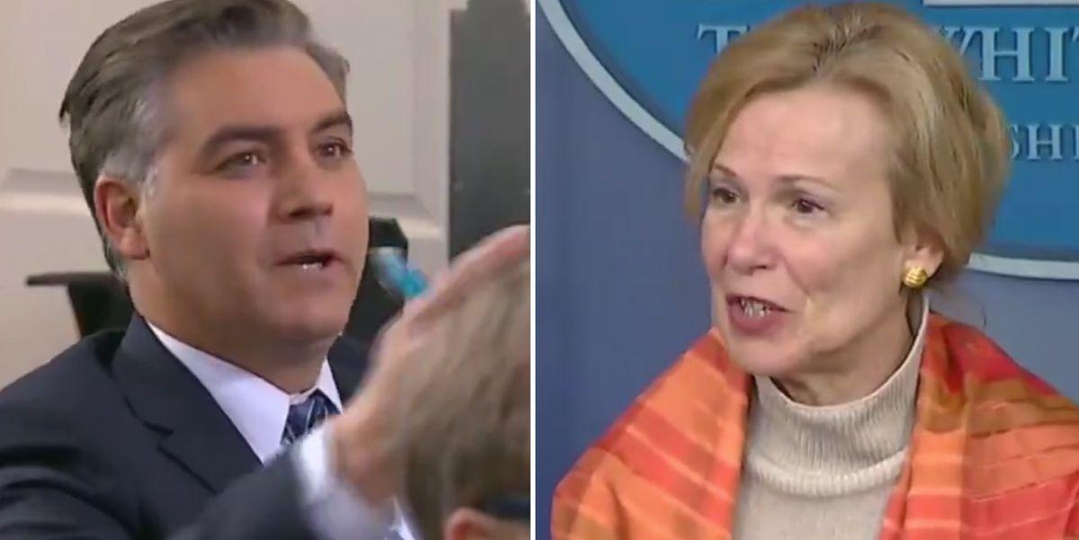 CNN's Jim Acosta gets destroyed after interrupting Dr. Birx to bash President Trump