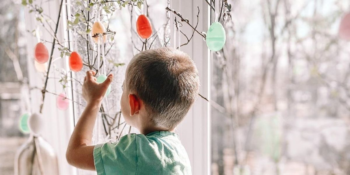 Easter trees are bringing a much-needed dose of cheer to families in isolation