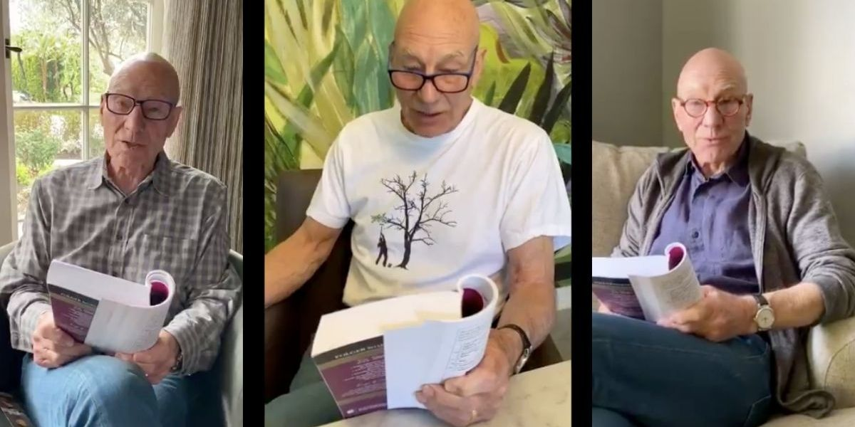 Soul-soothing Patrick Stewart has started reciting Shakespeare's sonnets and people are swooning