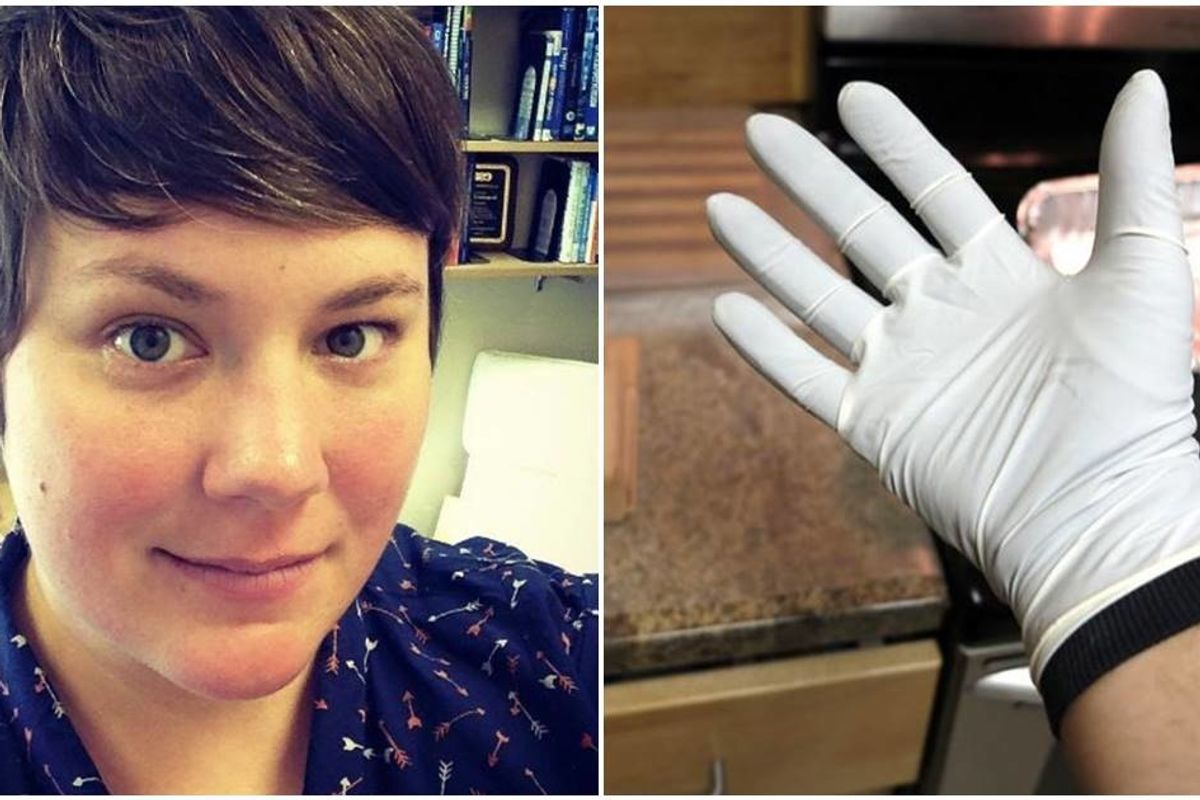 A scientist saw people wearing gloves incorrectly. Here are her tips to help keep us safe.