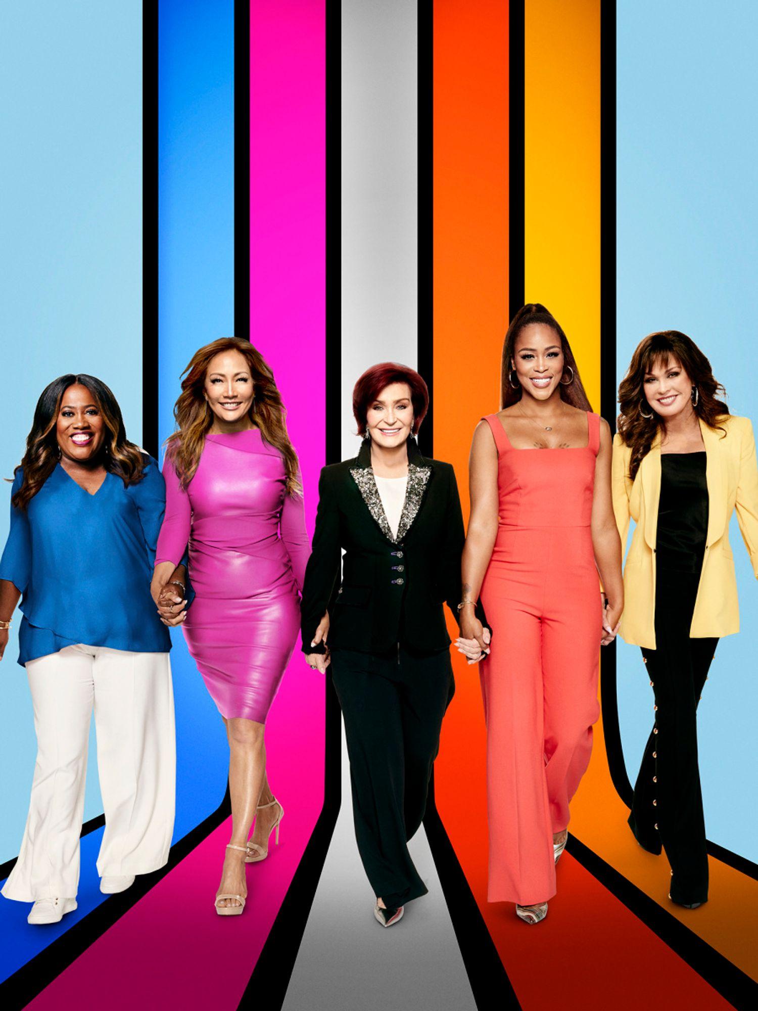 Sheryl Underwood, Carrie Ann Inaba, Sharon Osbourne, Eve Cooper, and Marie Osmond.