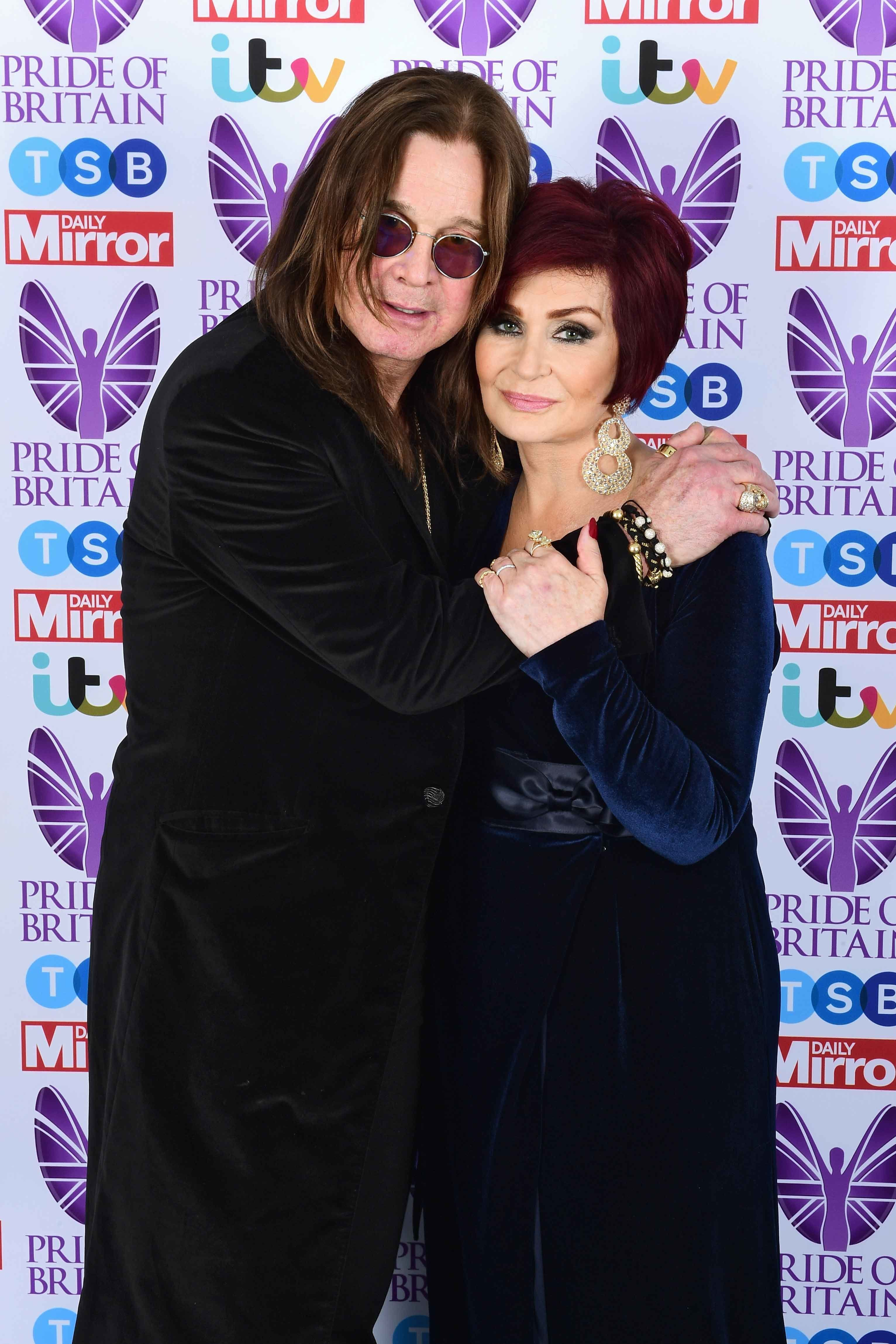 Ozzy Osbourne and wife Sharon Osbourne.