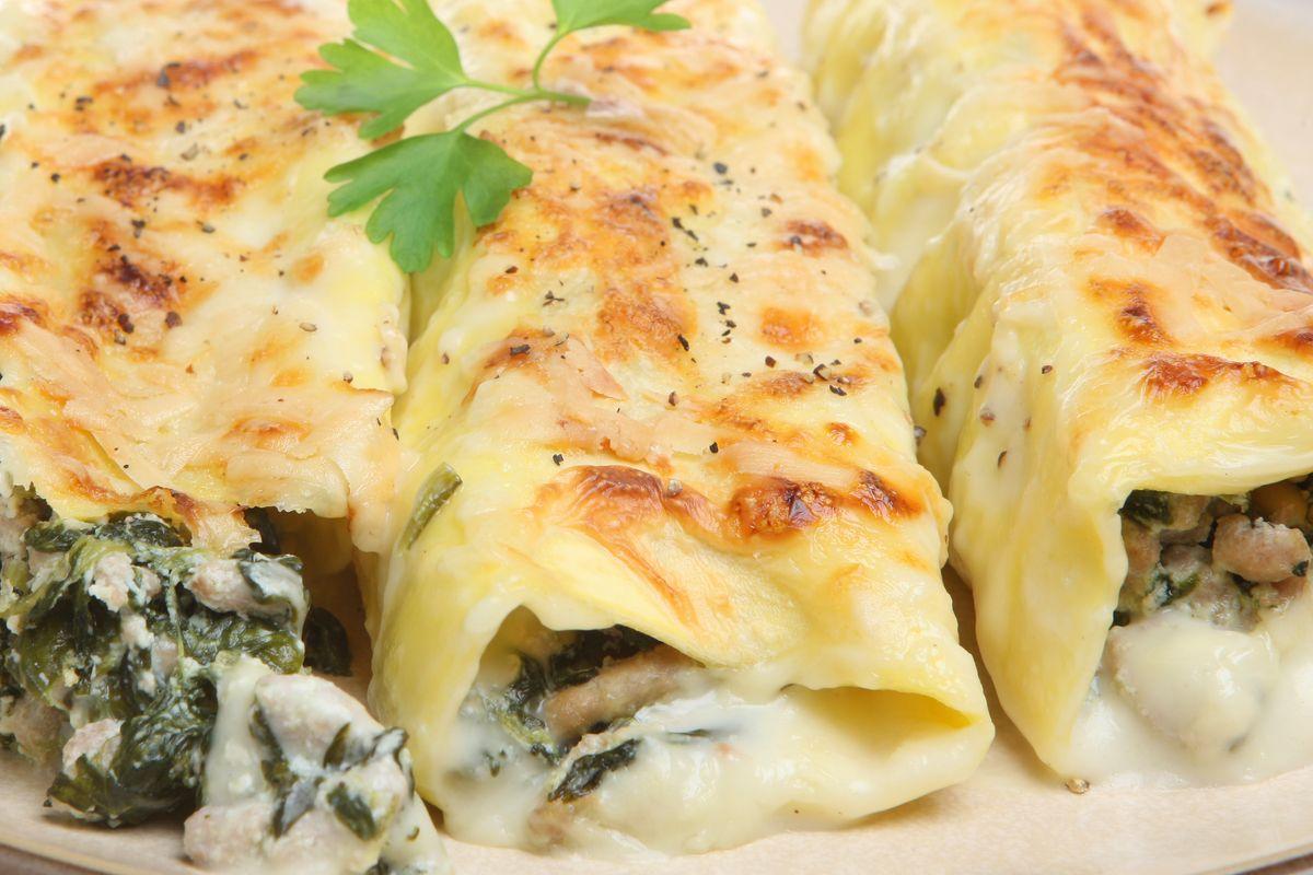 Cuciniamo insieme: cannelloni di carne e spinaci al tartufo