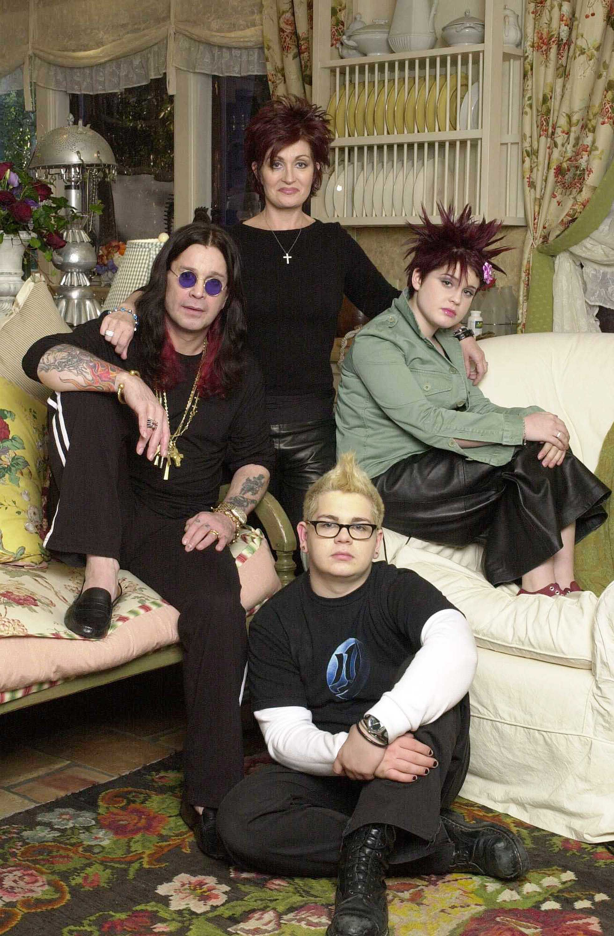 Ozzy, Sharon, Jack, and Kelly of the MTV reality series The Osbournes.