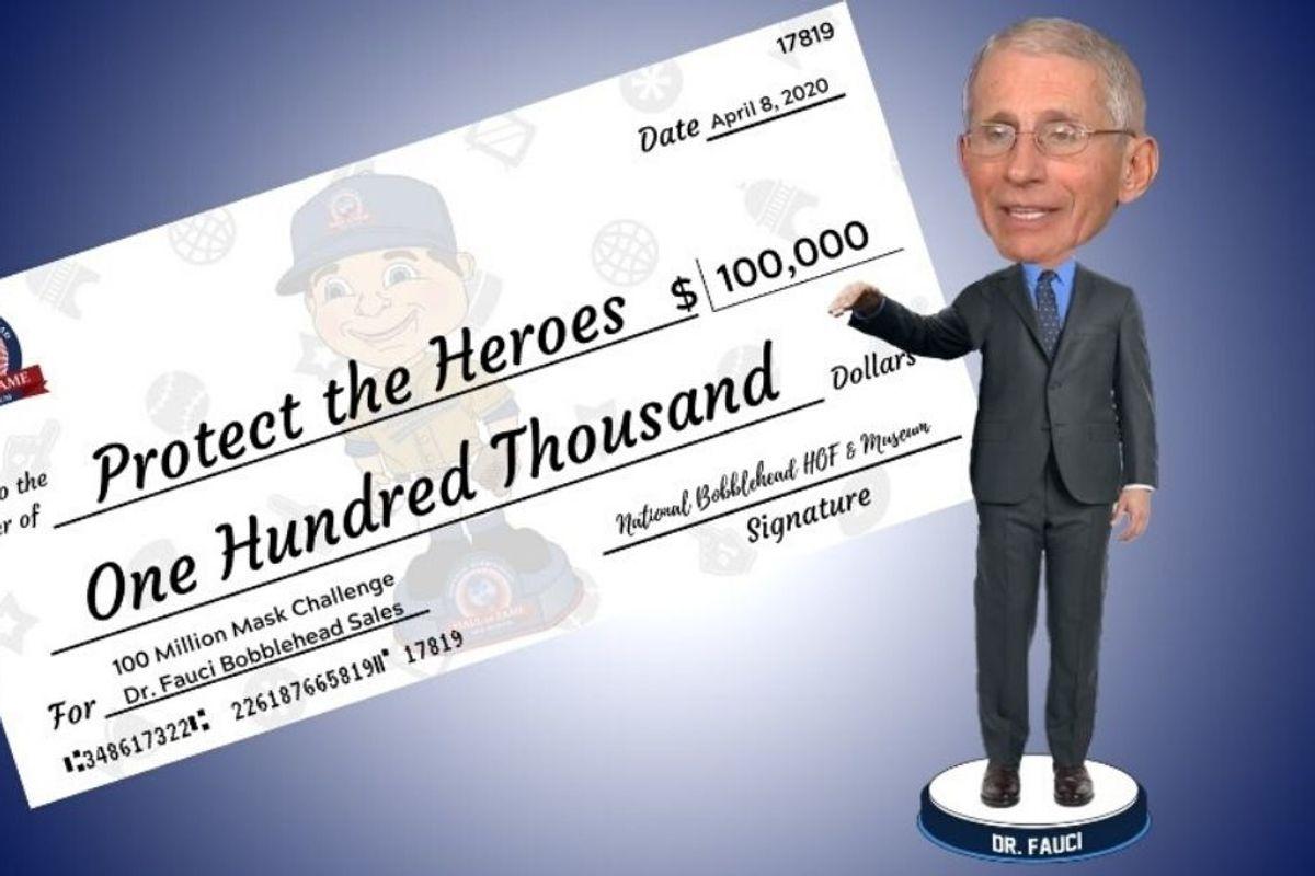 Dr. Fauci bobblehead sales have already raised $100,000 for coronavirus charity