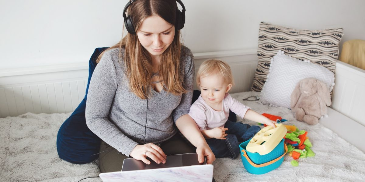 Here's exactly how to work from home when your kids need attention