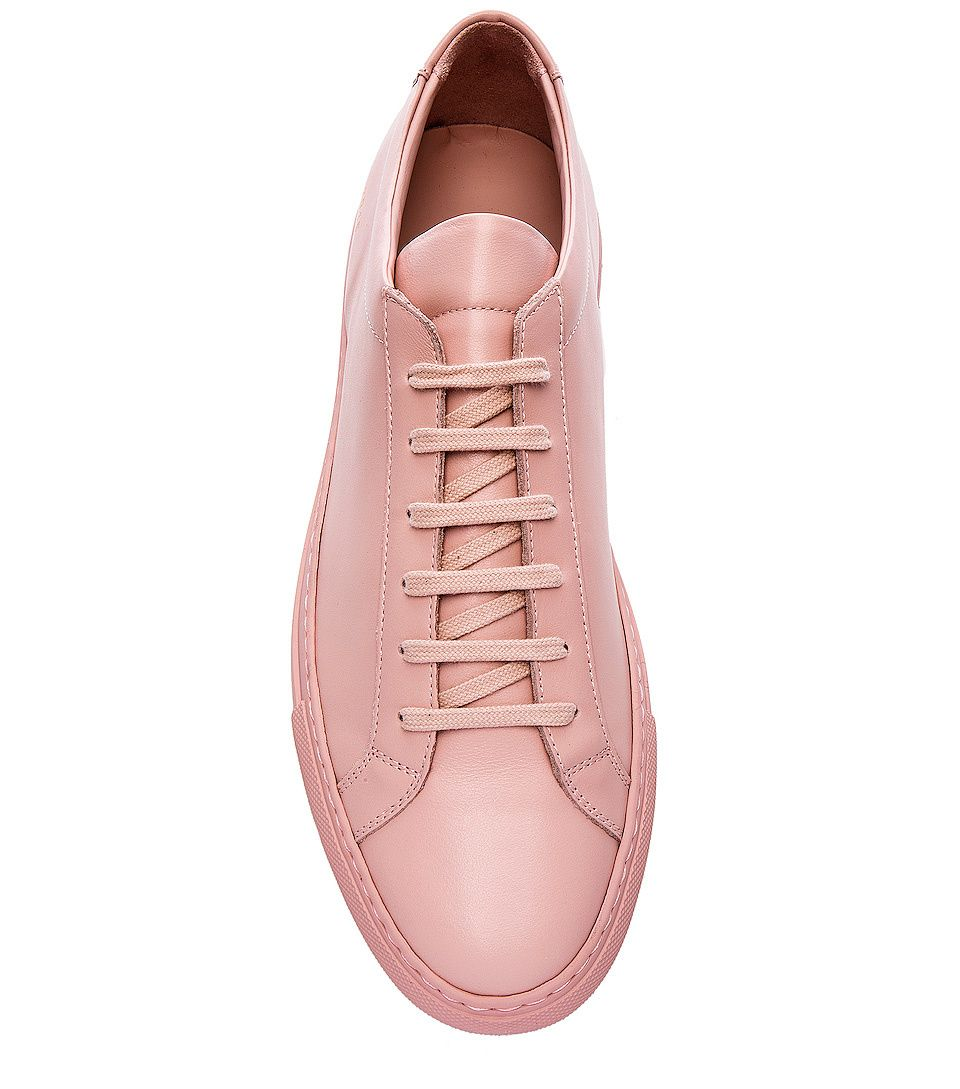 Blush pink leather shoes for men