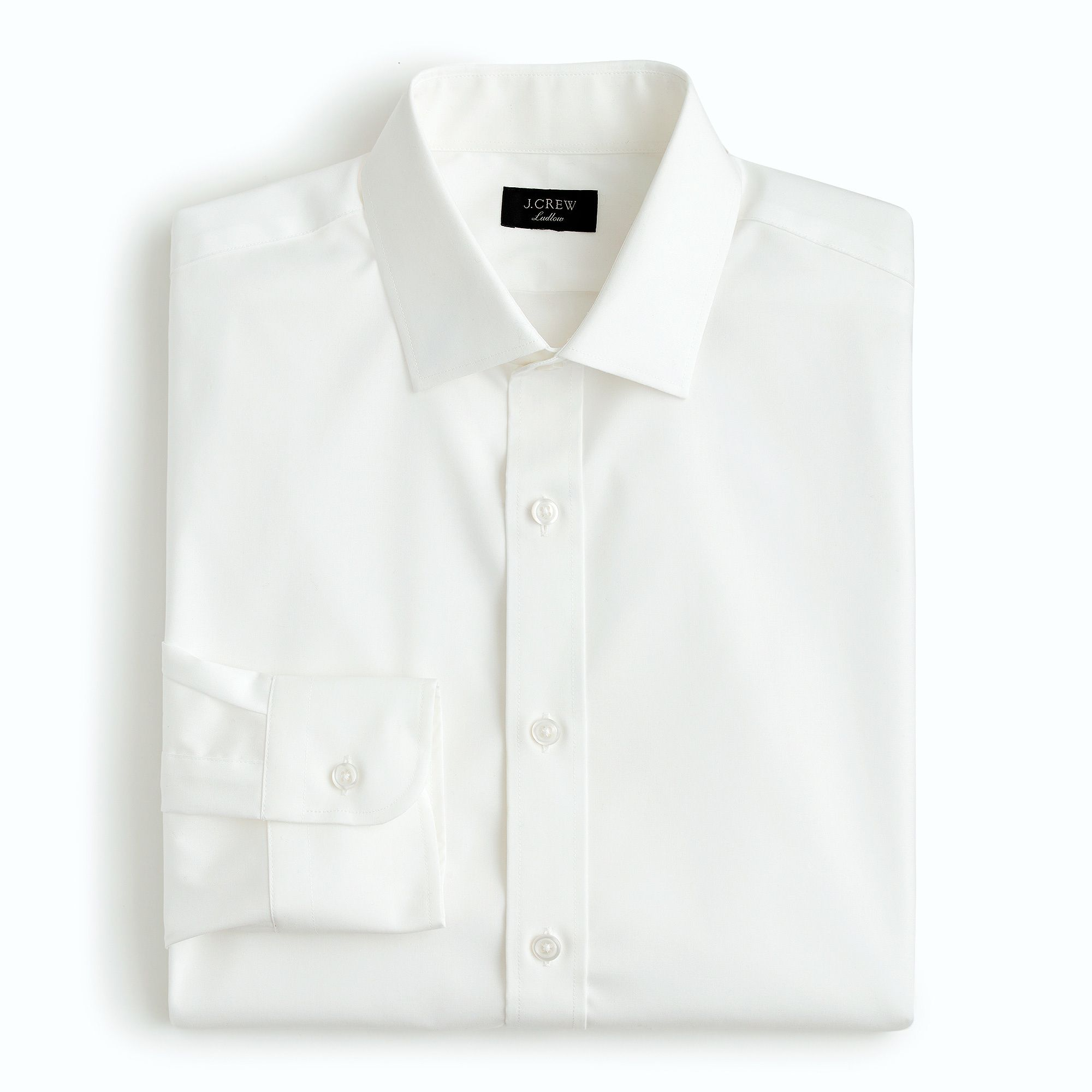 Folded white dress shirt