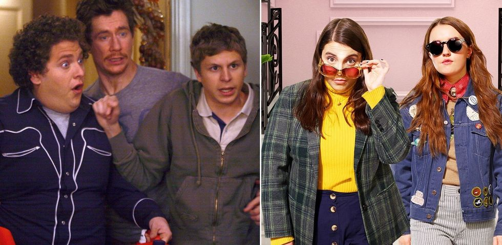 Jonah Hill and Beanie Feldstein