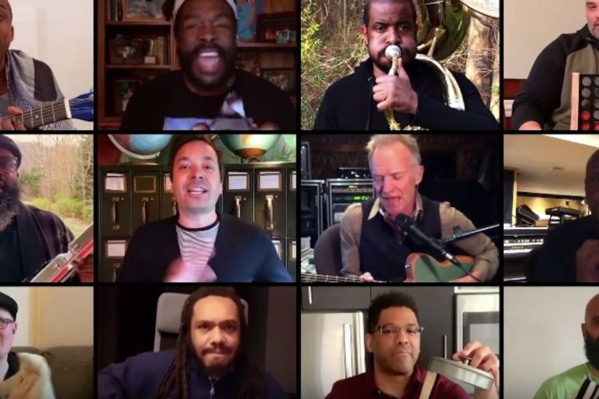 Jimmy Fallon, Sting and The Roots made an epic at-home version of 'Don't Stand So Close to Me'
