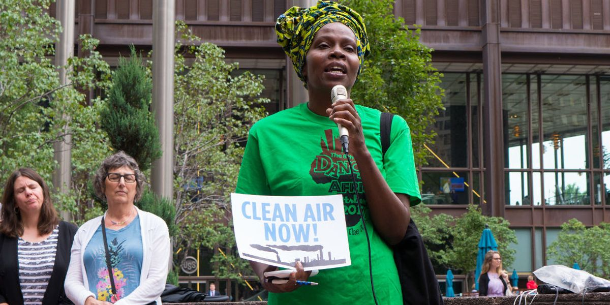 US Steel Clairton Coke Works air pollution protest
