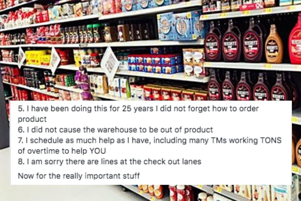 A grocery store manager shared their 20-point list of things every shopper needs to know right now