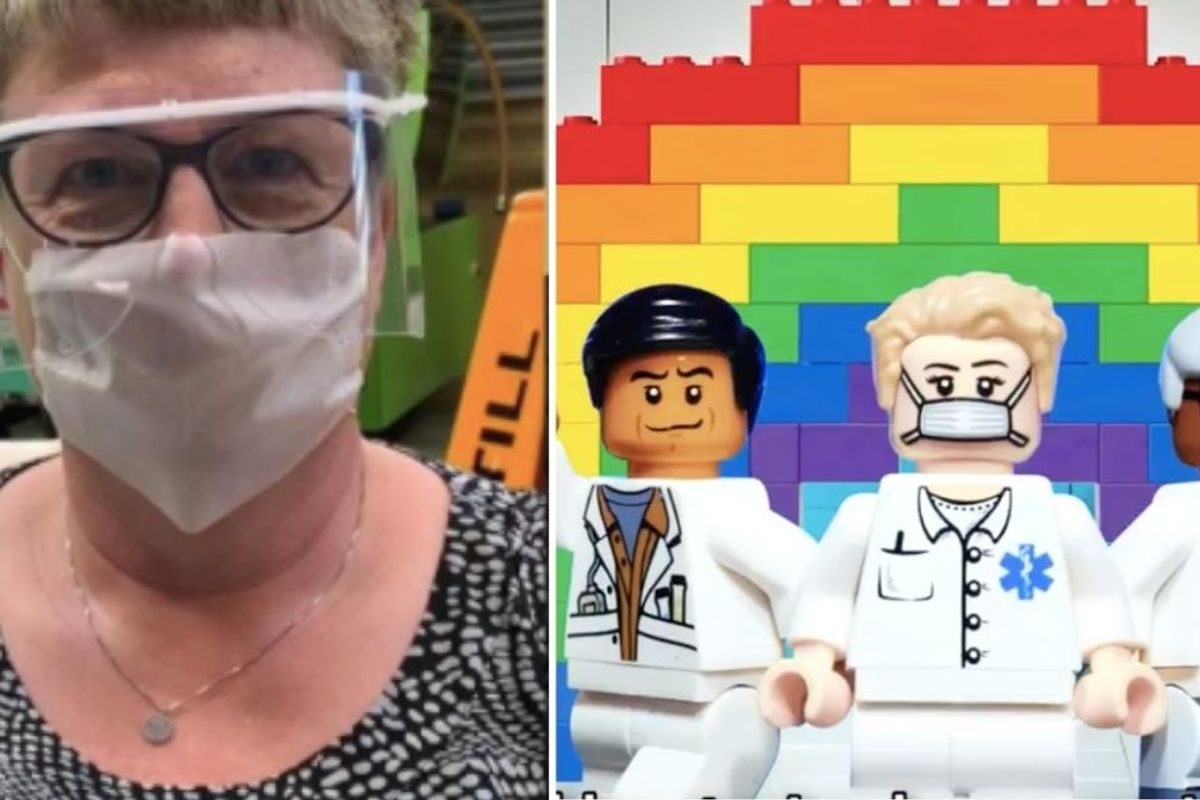 LEGO is making 13,000 plastic face visors a day for hospital workers