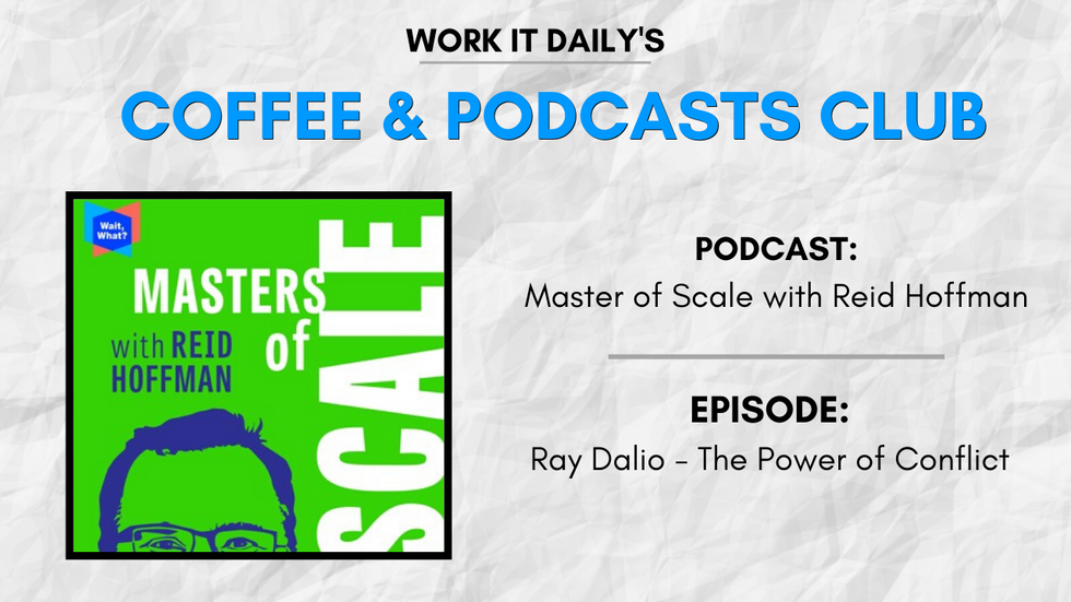 Work It Daily's podcast club episode recommendation (Masters of Scale with Reid Hoffman)
