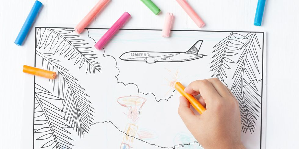 Picture of United plane coloring page
