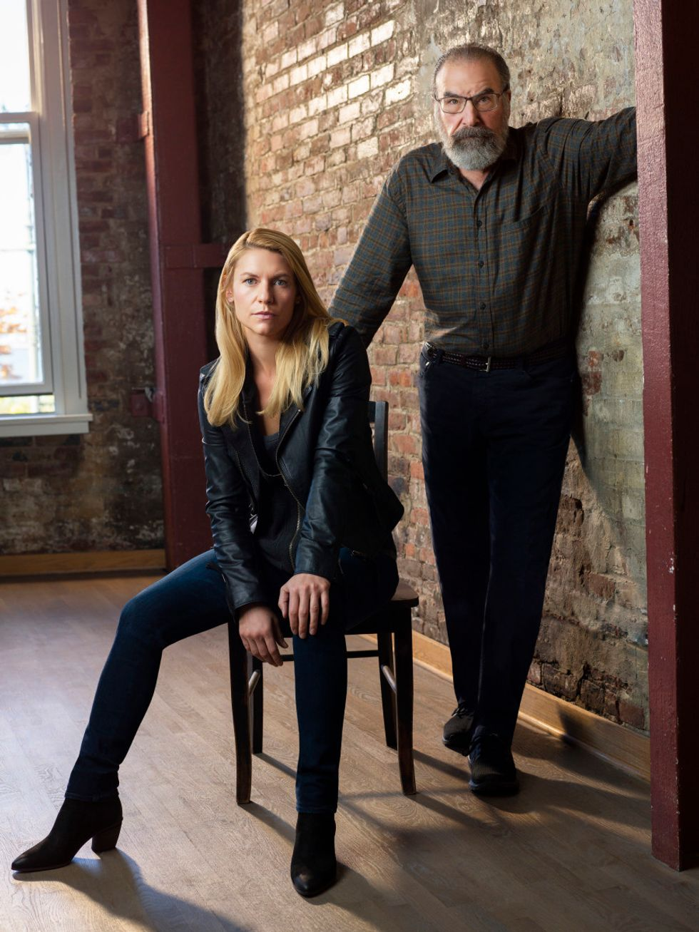 Claire Danes and Mandy Patinkin of Homeland.