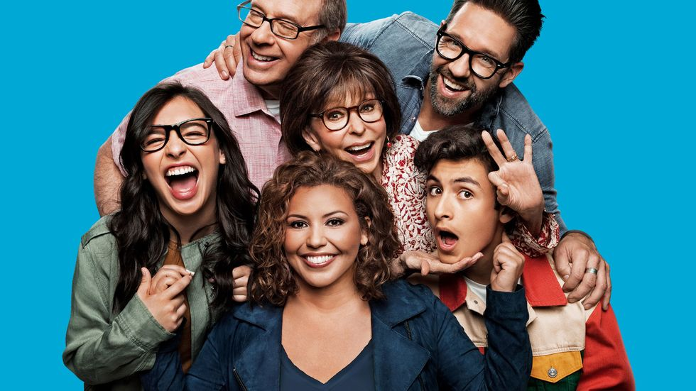 \u200bThe cast of Pop TV series One Day At A Day.