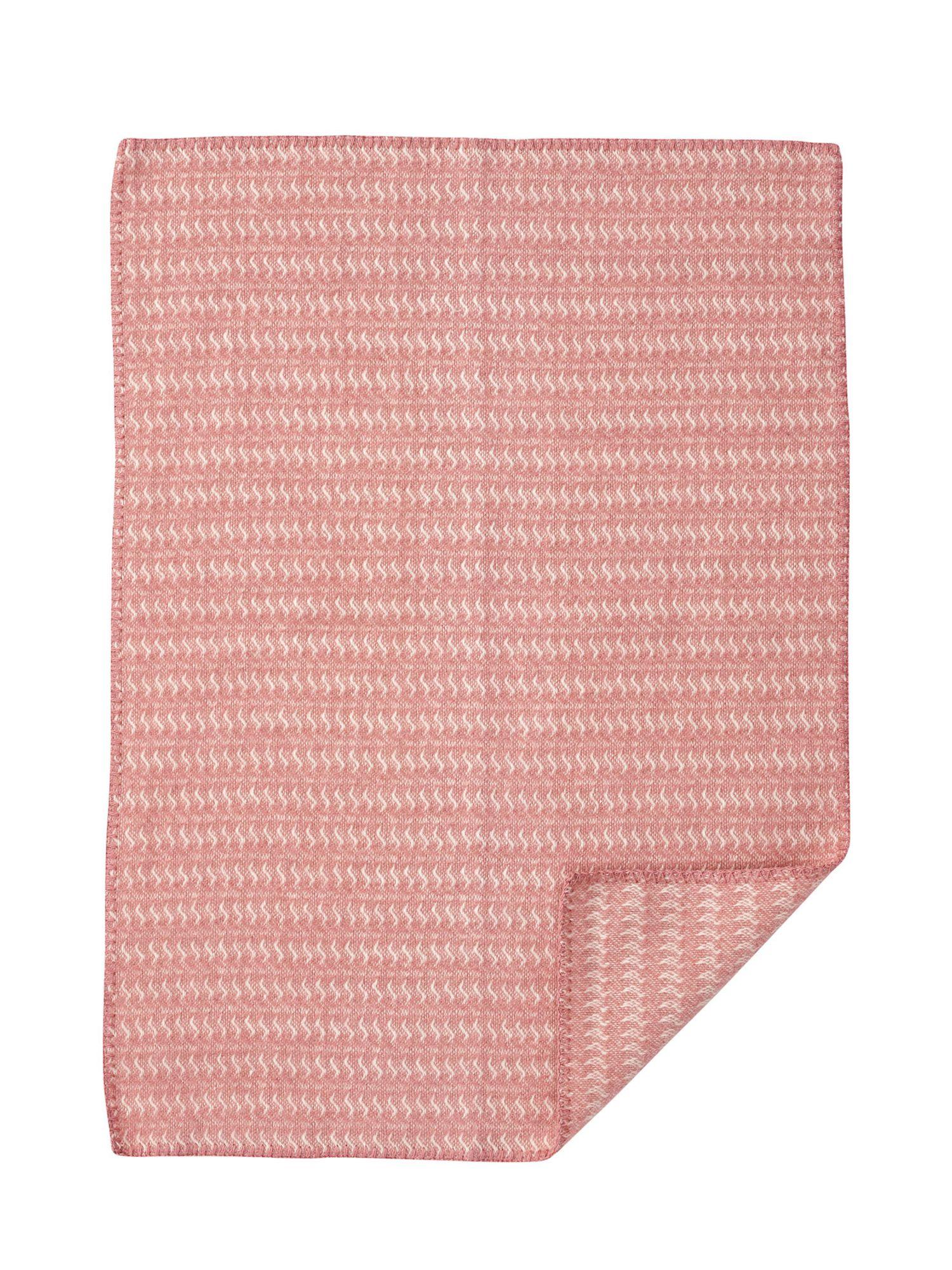 Pink wool baby blanket