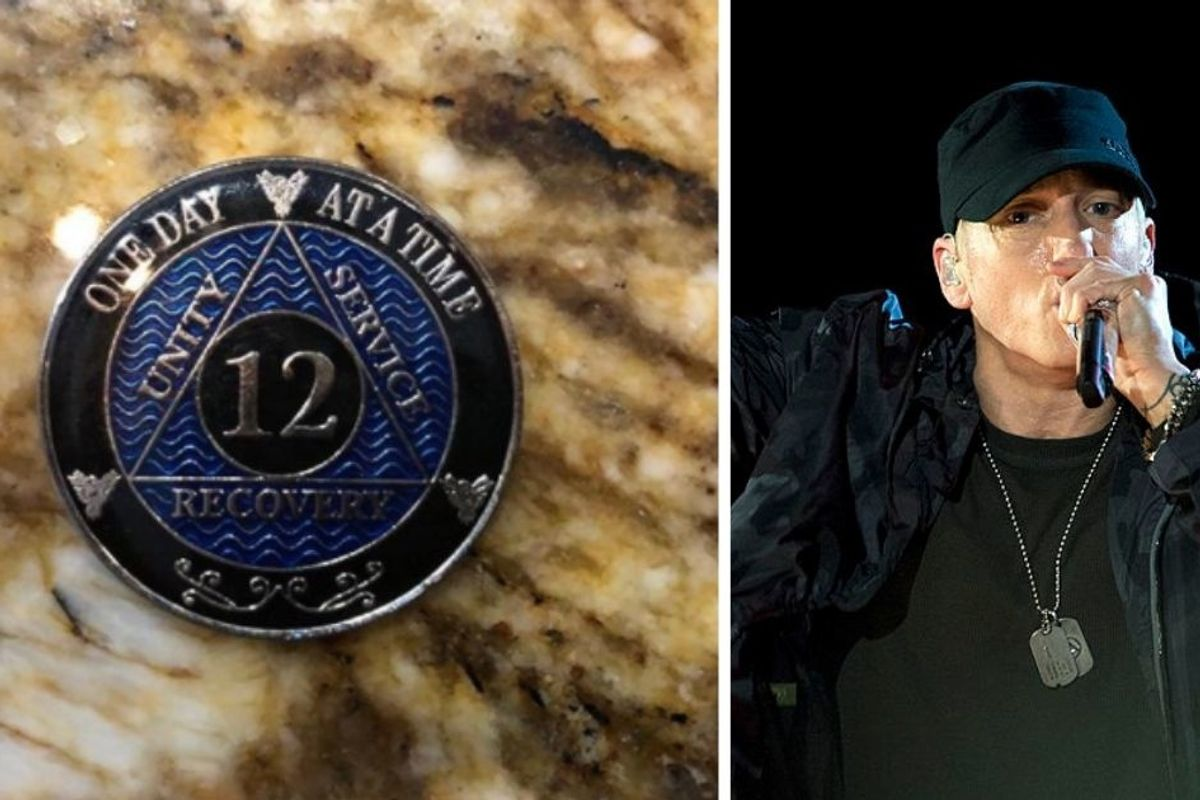 Eminem just reached an awesome addiction recovery milestone—12 years of sobriety