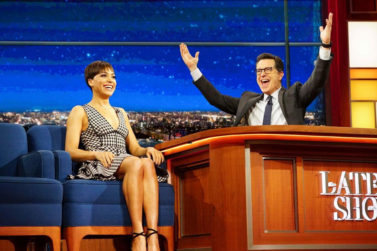 Cush Jumbo on The Late Show With Steven Colbert.