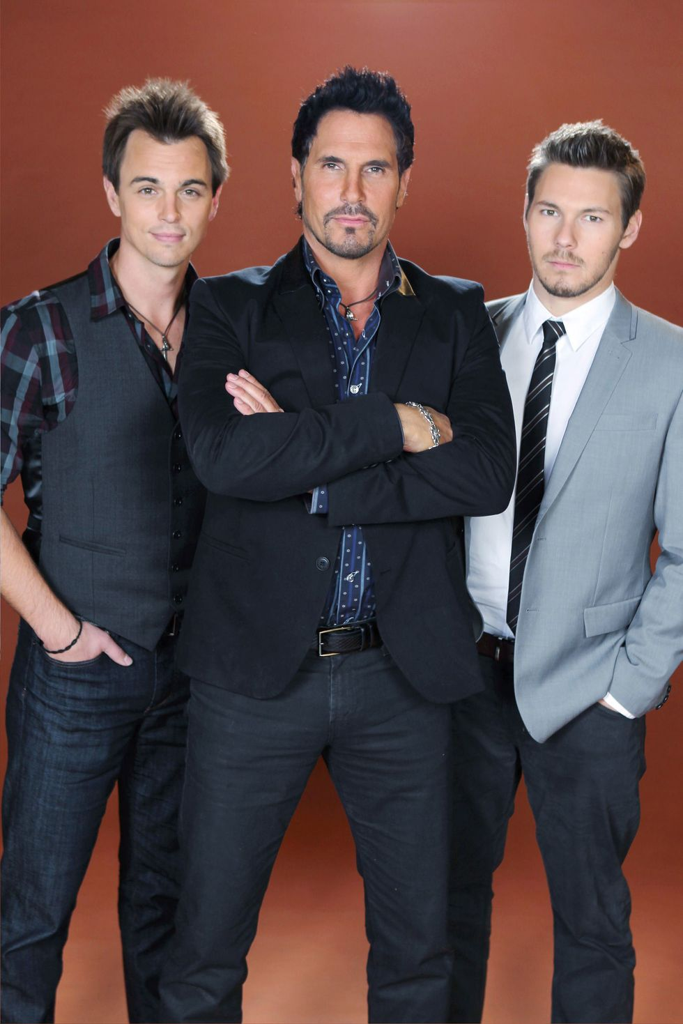 Darin Brooks, Don Diamont, and Scott Clifton of soap opera The Bold and the Beautiful.