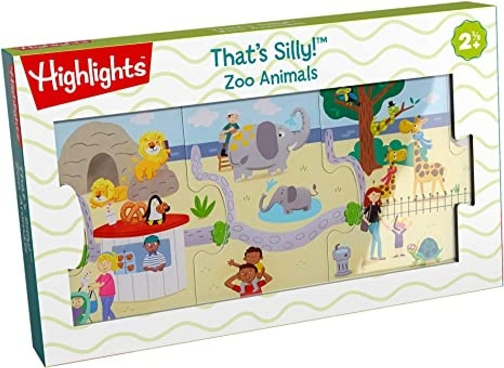 Highlights that's silly zoo animals puzzle