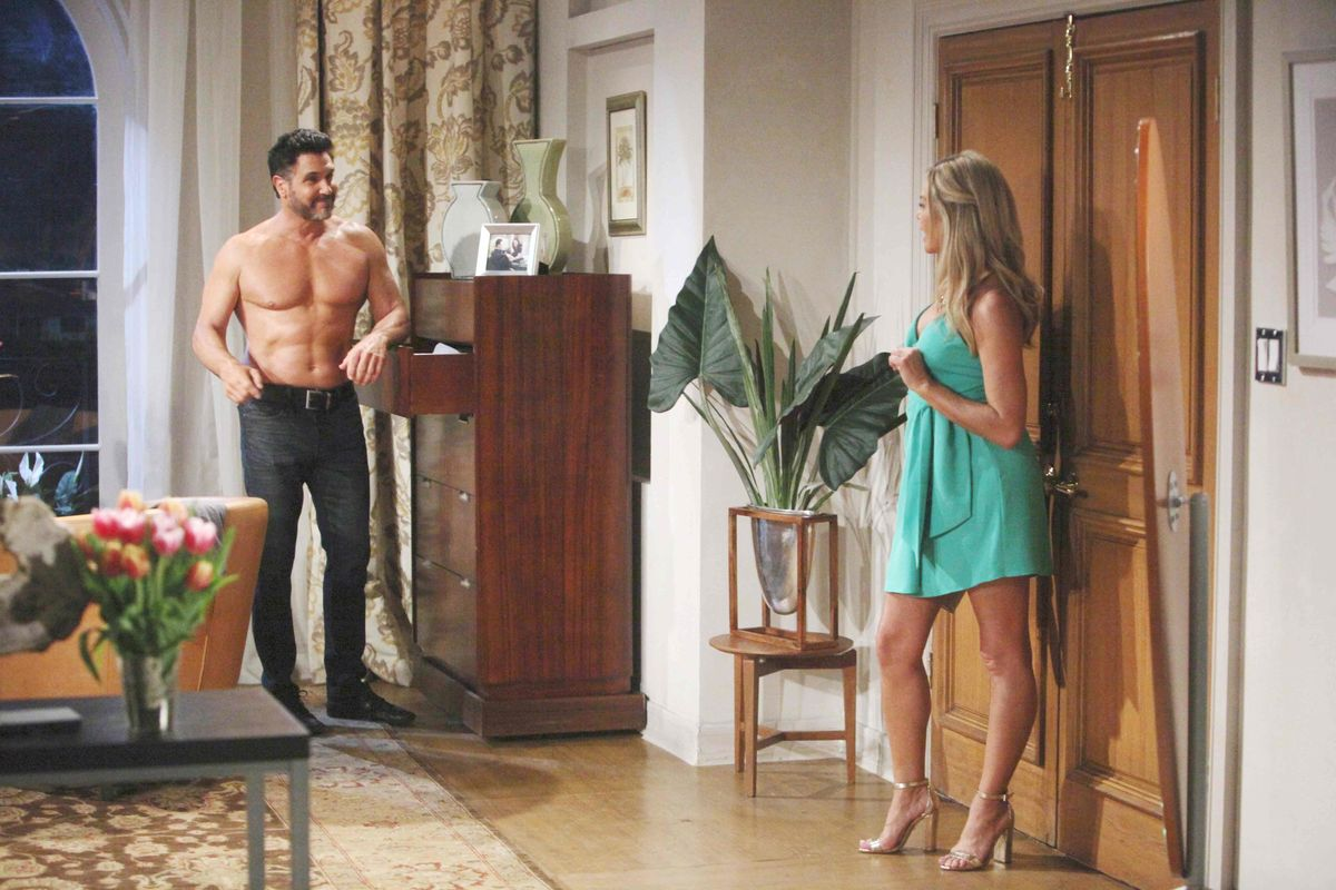 Don Diamont and Denise Richards on soap opera The Bold and the Beautiful.