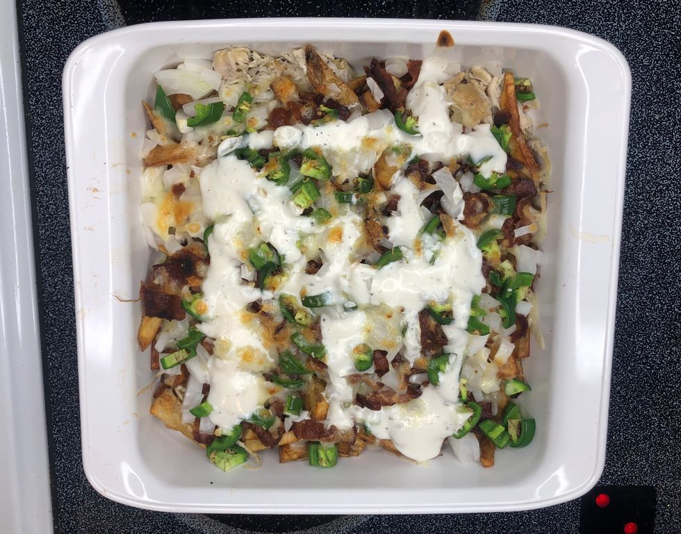 I Made Dank Chicken Bacon Ranch Fries