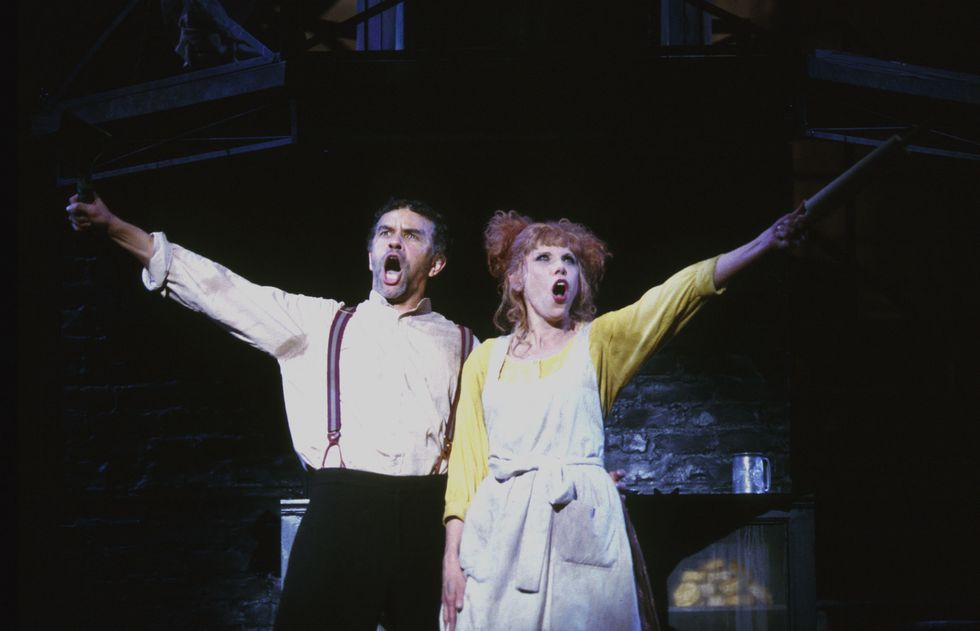 Brian Stokes Mitchell and Christine Baranski sing in costume in Sweeney Todd