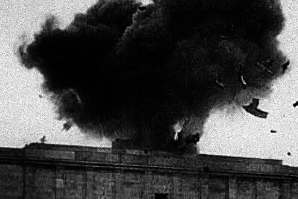 75 years ago, the U.S. blew up a giant swastika in Nazi Germany and it's still so satisfying to watch