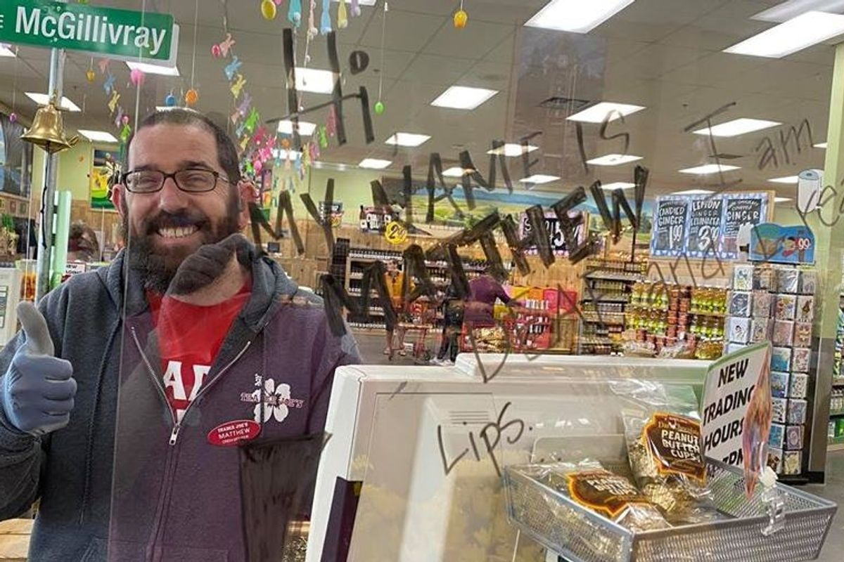 Deaf Trader Joe's employee isn't letting the pandemic stop him from helping customers