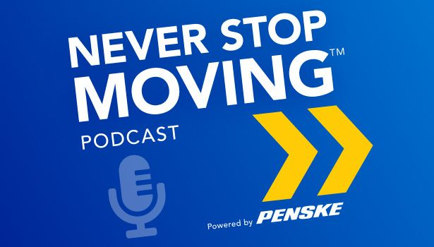 never stop moving podcast logo