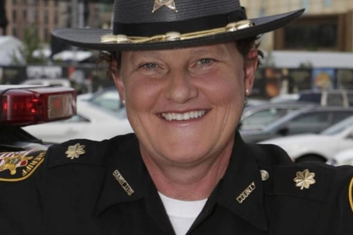 After she was fired by the sheriff for being a lesbian she ran for his office and won in a landslide