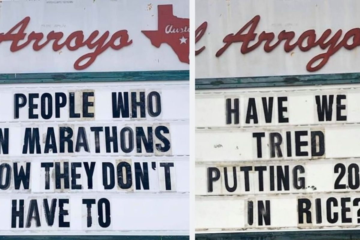 Texas restaurant's signs have people around the country chuckling