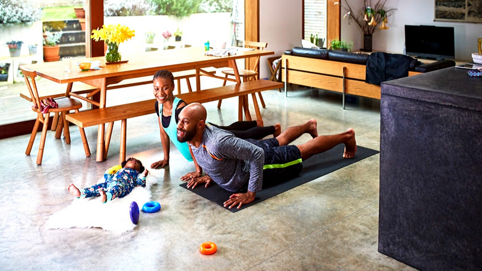 4 tips to help you get into the hom\u200be workout groove