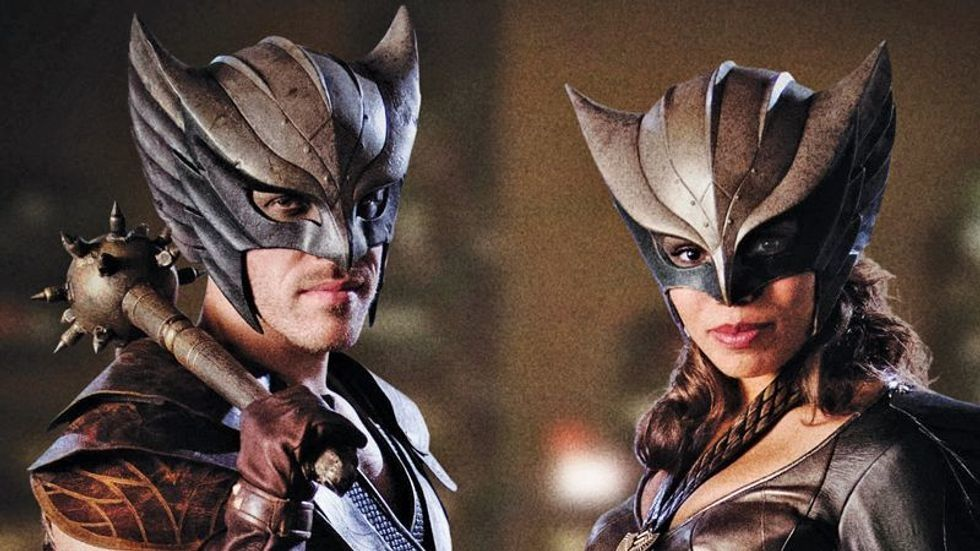 Falk Hentschel and Clara Renee in costume for DCs Legends of Tomorrow