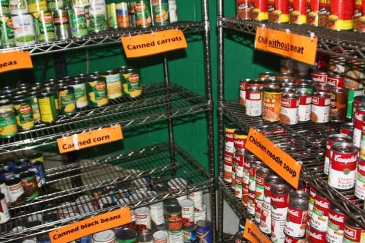 Panic buying has put a strain on food banks at a time when we need them most