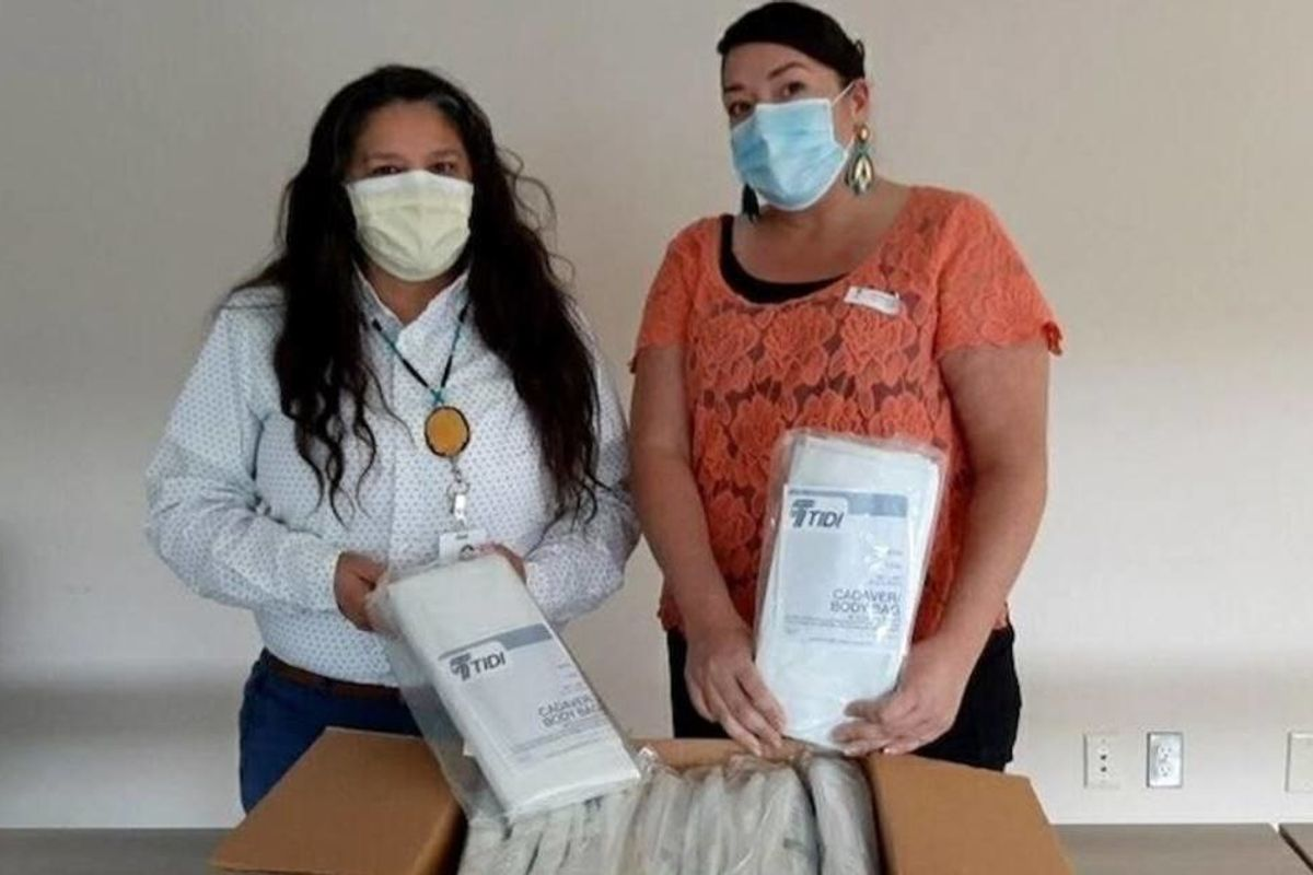 A Native American health center requested equipment to help COVID-19 patients. Instead, they got body bags.