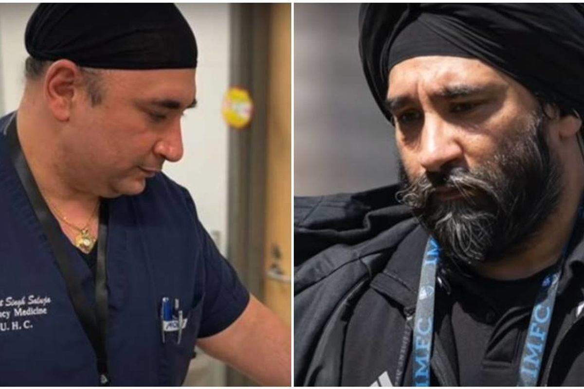 Two Sikh doctor brothers shaved their beards so they can safely treat coronavirus patients