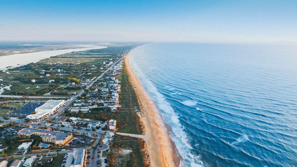 Aerial image of a Florida beach